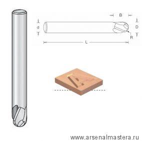 Фреза спиральная радиусная для гравировки R3 D 6 x 9 L 60 Z 3 стружка верх S 6 Dimar SO1063043