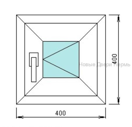 Окно ПВХ 400*400 мм готовые окна