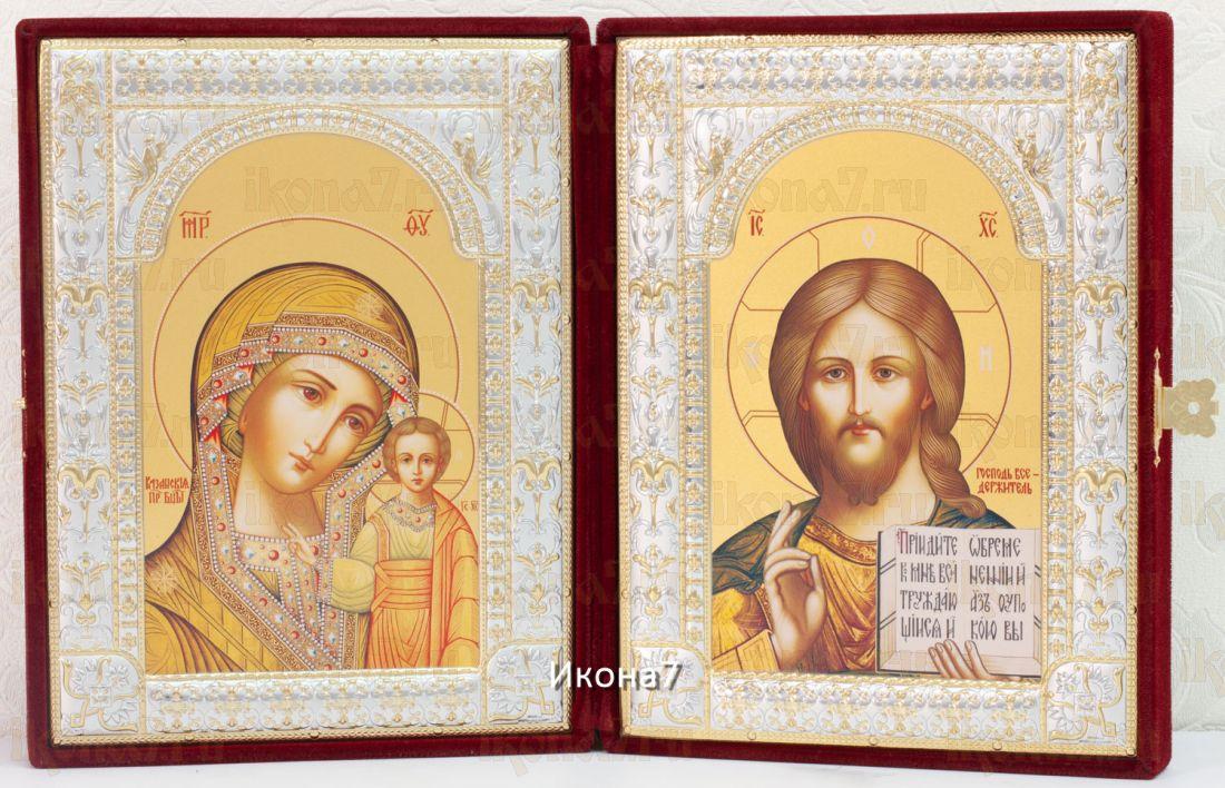 Складень Казанская Богоматерь и Господь Вседержитель иконы (40x26см)