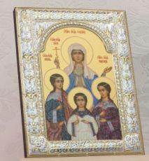 Вера, Надежда, Любовь и их матерь София (18х24см)