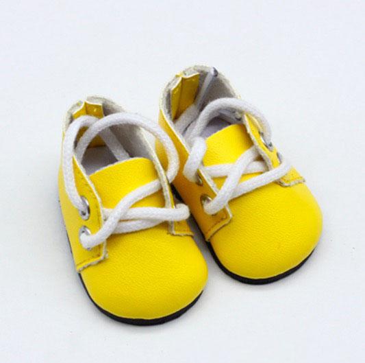 Обувь для кукол - ботиночки 5 см (желтые)