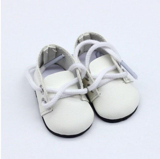 Обувь для кукол - ботиночки 5 см (белые)