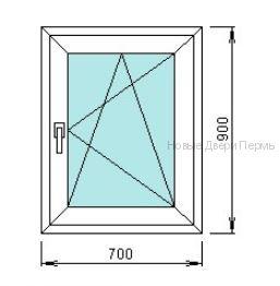 Окно ПВХ 700*900 мм   готовые окна