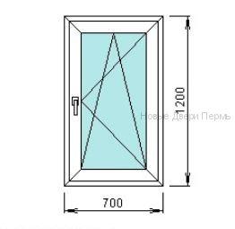 Окно ПВХ 700*1200 мм   готовые окна