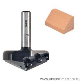 Фреза V паз 160 гр сменные ножи D 58,7 x 5 L 70,7 Z 2 хвостовик 12 DIMAR 1053689