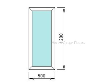 Окно ПВХ 500*1200 мм   готовые окна