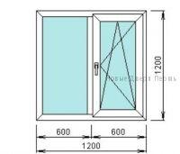 Готовое окно ПВХ 1200*1200 мм