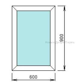 Окно ПВХ 600*900 мм   готовые окна