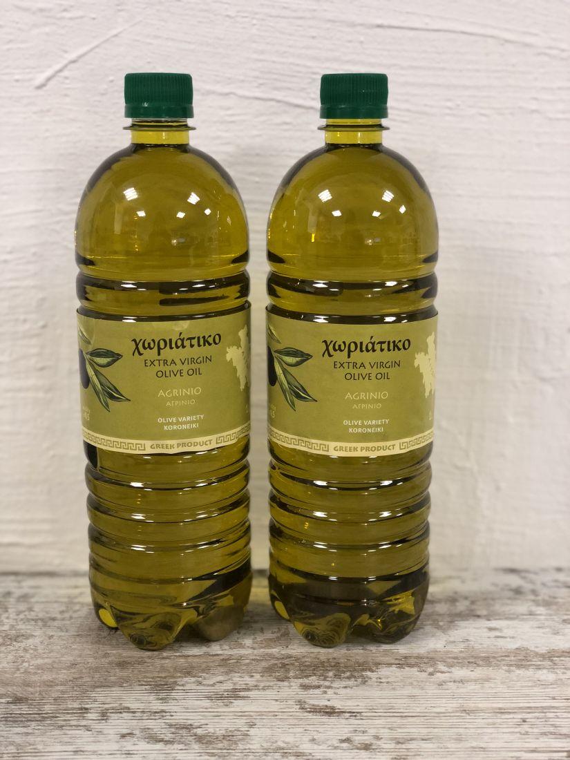 2х1 л Домашнее оливковое масло Horiatiko Agrinio Extra Virgin