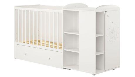 Кроватка-трансформер детская Polini kids French 800, Teddy