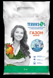 Удобрение сухое Террасол минеральное для Газона-осень с микроэлементами 5 кг