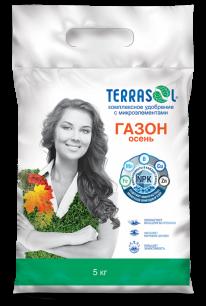 Удобрение сухое Террасол минеральное для Газона-осень с микроэлементами 5 кг - все для сада, дома и огорода!