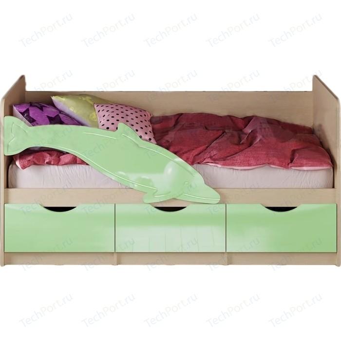 Кровать Дельфин-1 0,8*1,8 м Матовый салат