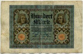 Германия 100 марок 1922 J-136