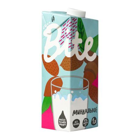 Растительное молоко Bite «Миндальное» (без сахара и лактозы), 1л