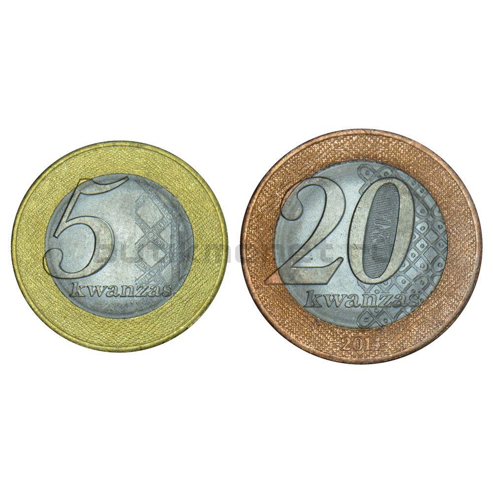 Набор монет 2012-2014 Ангола (2 штуки)
