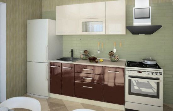 Кухня Техно (Ксения) 1,6 м (модульная)