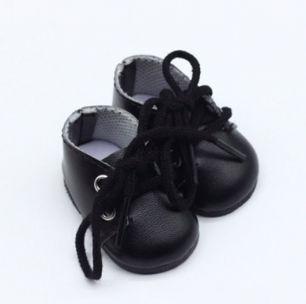 Обувь для кукол - ботиночки 5 см (черные)