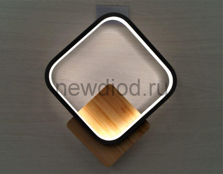Светильник светодиодный настенный WALL 170 РОМБ 16W 4000К 240*280mm белый Oreol