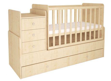 Кроватка детская Polini kids Simple 1100 с комодом