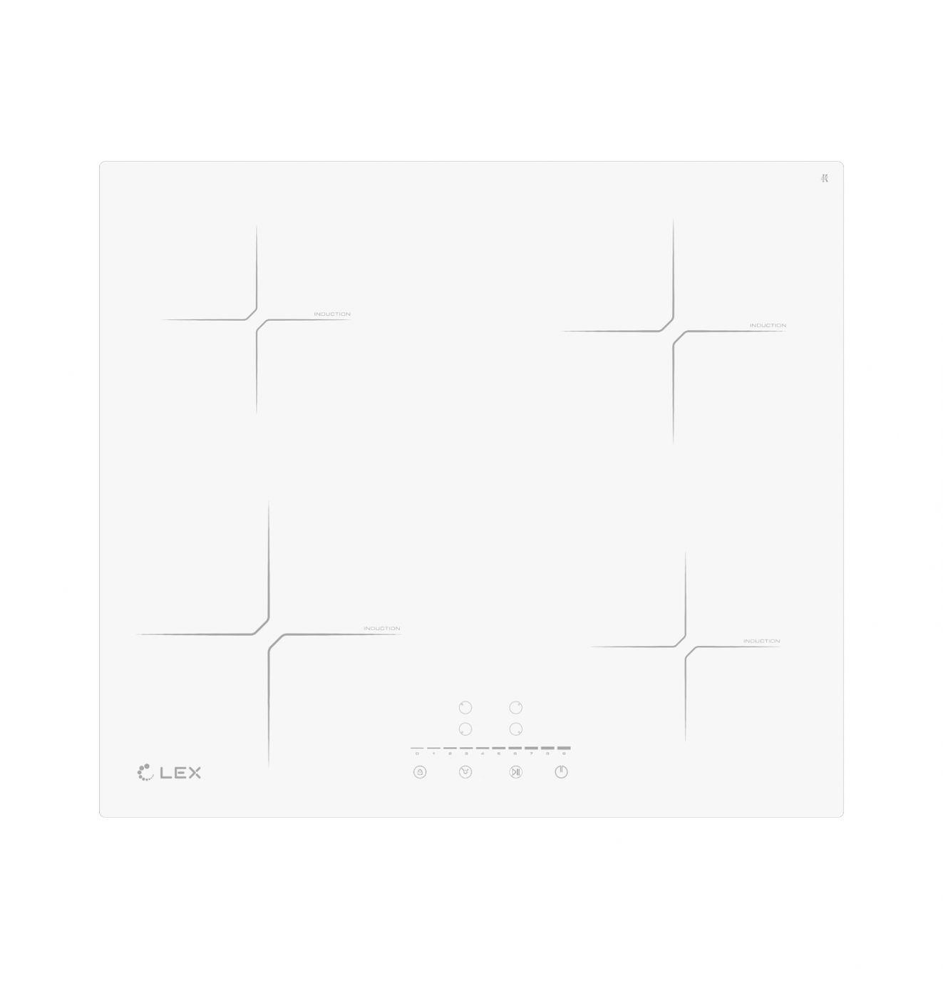 Индукционная варочная панель Lex EVI 640-2 WH CHYO000198