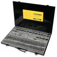 T030004 Набор метчиков и плашек М2 - М18, метрическая резьба ТЕХРИМ, 110 предметов