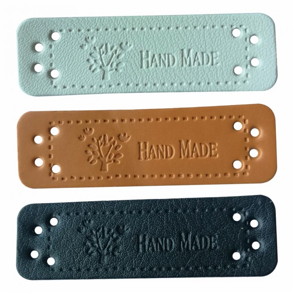 Бирка нашивка Hand Made эко-кожа (DOUYA-3)