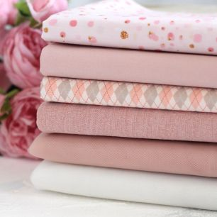 Набор тканей для пошива - Пудровый