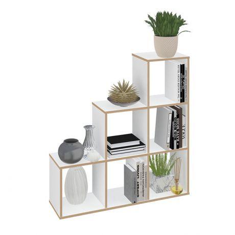 Стеллаж Polini Home Smart Каскадный 6 секций, эффект фанеры