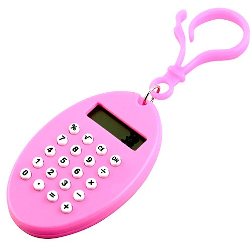 Брелок 8-разрядный калькулятор Овал