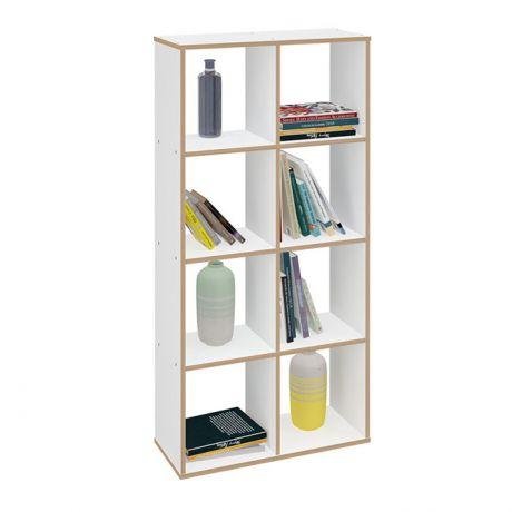 Стеллаж Polini Home Smart Кубический 8 секции, эффект фанеры