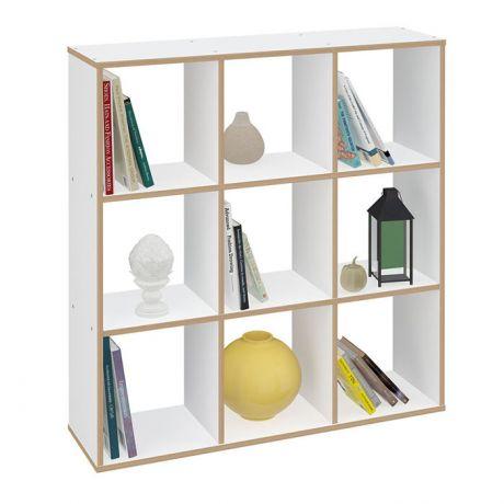 Стеллаж Polini Home Smart Кубический 9 секции,эффект фанеры