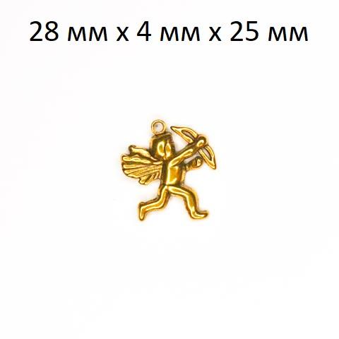 фото Подвеска (кулон/ шарм) Амур из металла золото