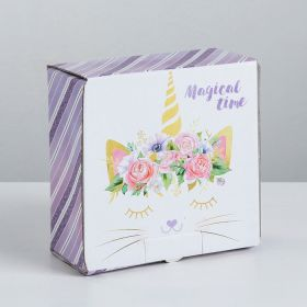 Коробка‒пенал Magical time, 15 × 15 × 7 см