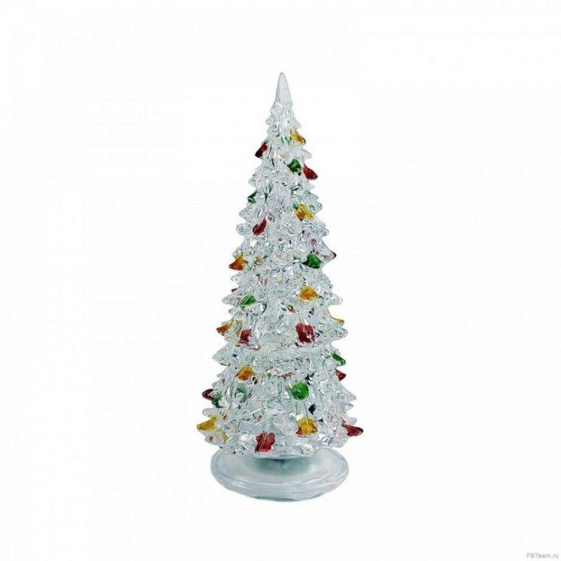 Светящаяся светодиодная ёлочка с шишками Marry Christmas 22 см.