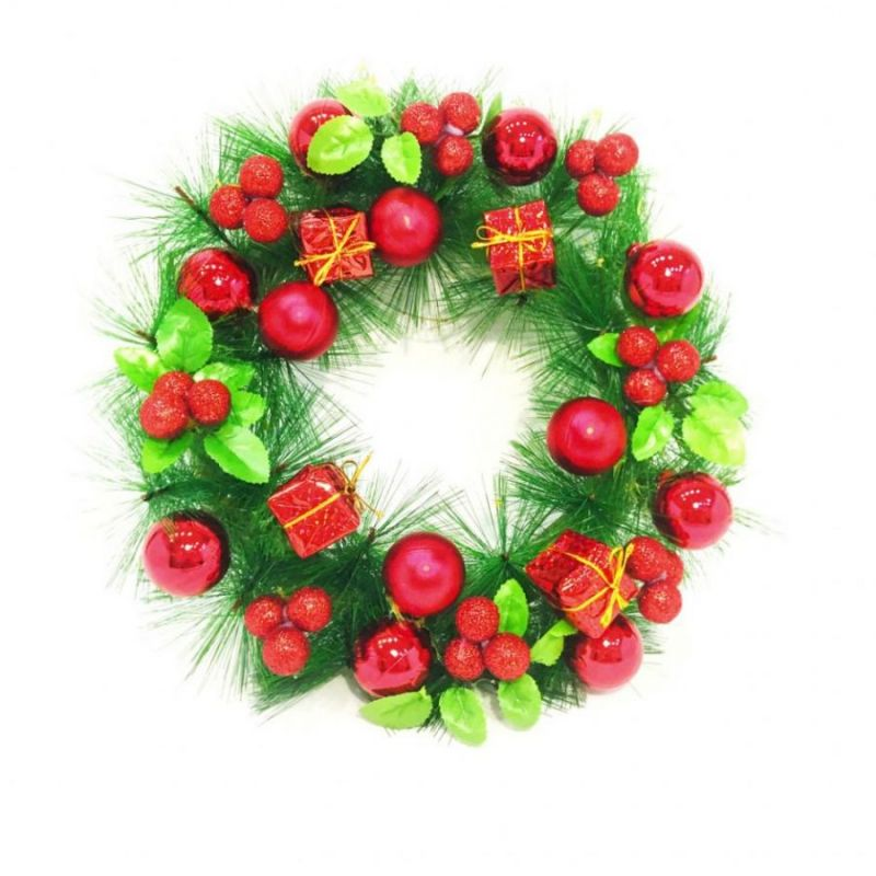 Новогодний Декоративный Венок С Шариками, 30 См