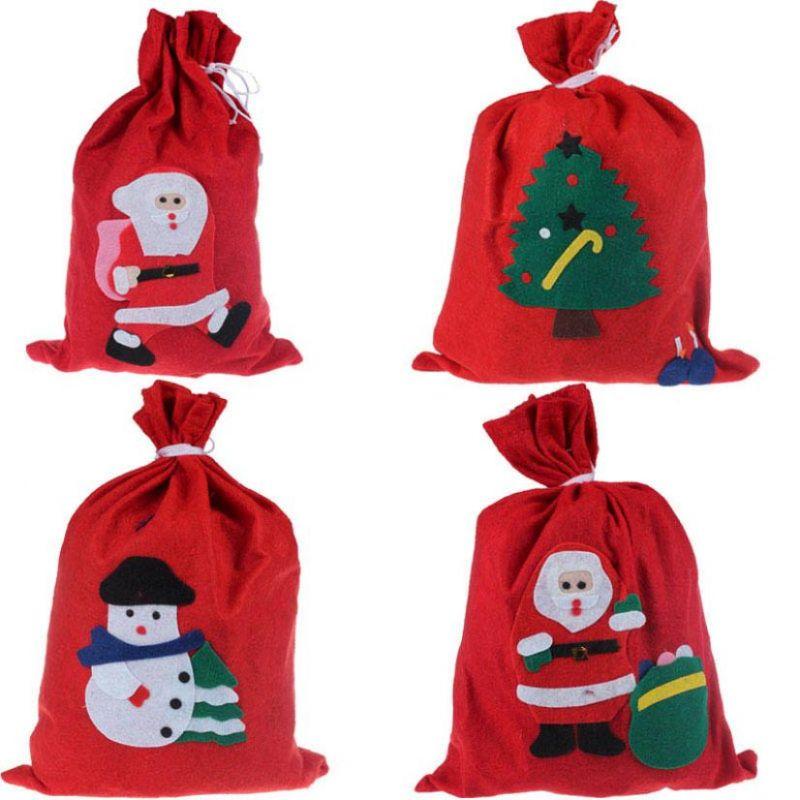Новогодний мешок для подарков, 30х20 см