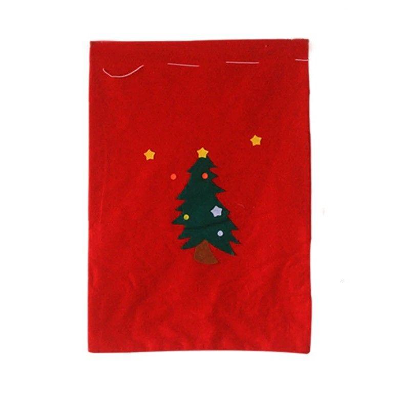Новогодний мешок для подарков, 30х20 см, Аппликация Ёлка