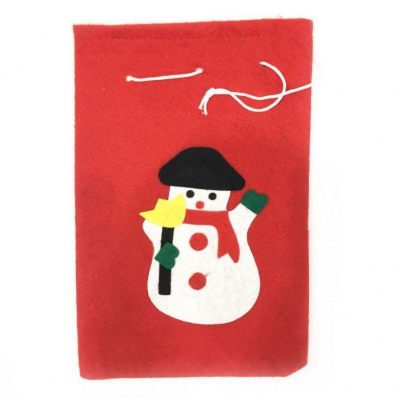Новогодний Мешок Для Подарков, 30х20 См, Аппликация Снеговик