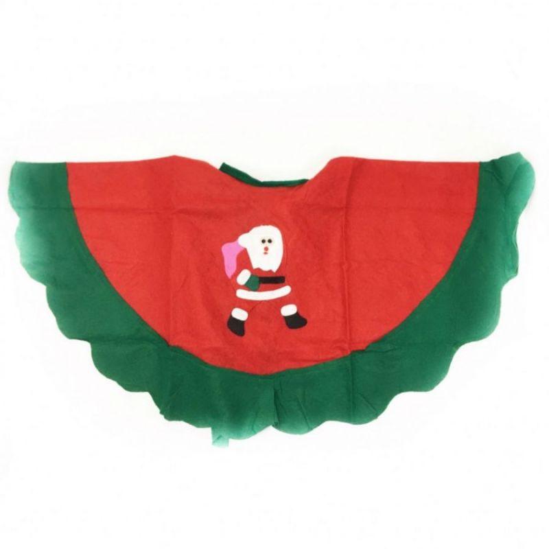 Детское новогоднее пончо с аппликацией, Дед Мороз
