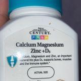 Кальций, магний, цинк + D3, 21st Century, 90 таблеток