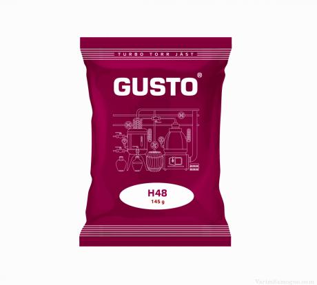 Спиртовые турбо дрожжи Gusto H48, 145 г