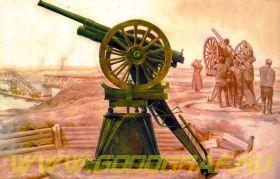 3-дм. орудие обр. 1902 г. на противоаэропланном станке Иванова