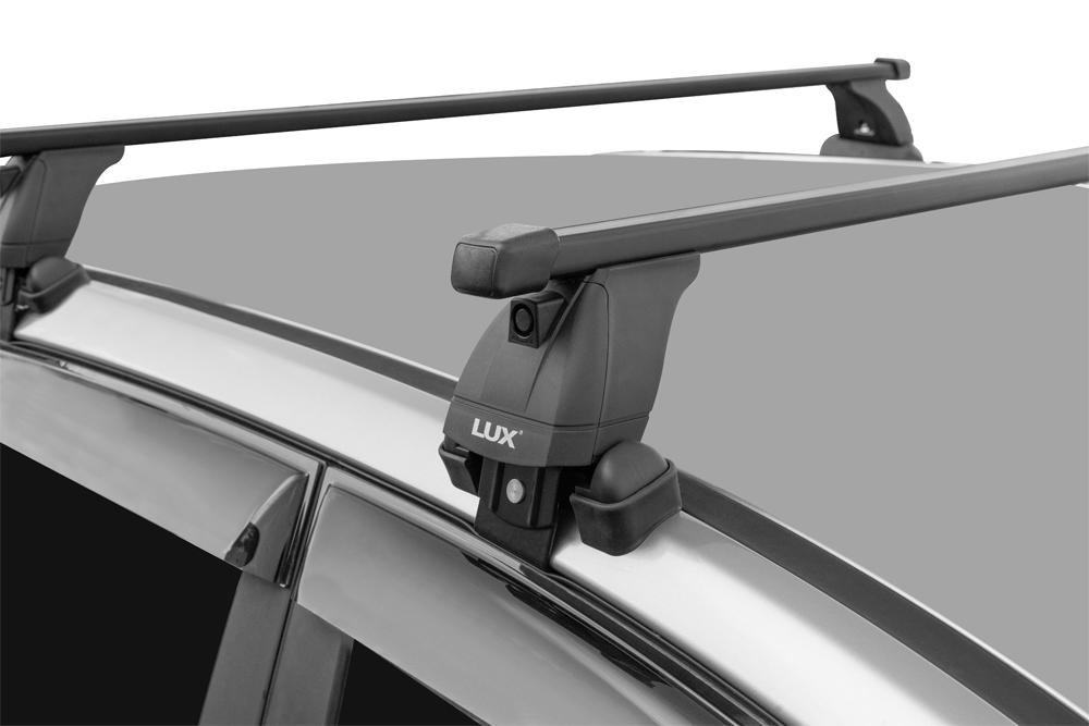 Багажник на крышу Volkswagen Polo 2020-..., Lux, стальные прямоугольные дуги