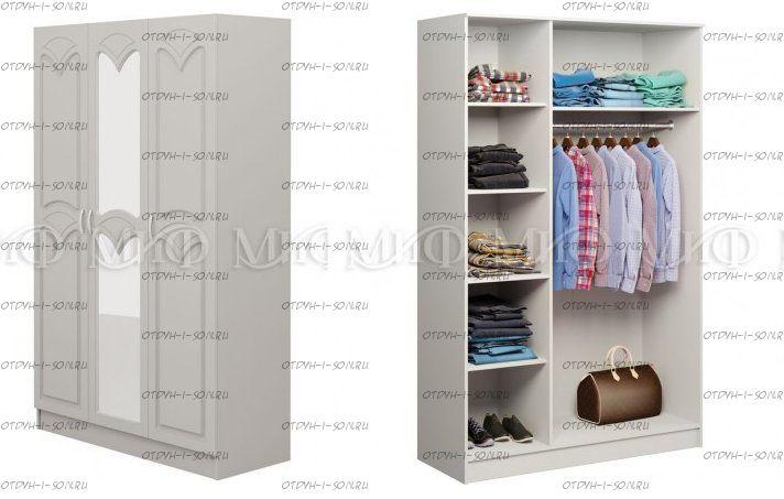 Шкаф трехдверный Натали 1 МДФ (135х54х160)