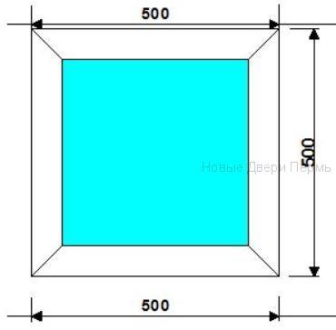 Окно ПВХ 500*500мм глухое окно