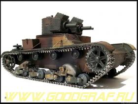 """Британский танк """"Виккерс"""" Е МК. А (с пластиковыми траками)"""