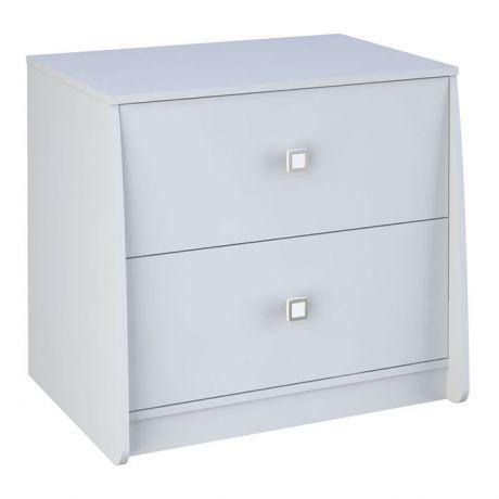 Комод с 2 ящиками для кровати-чердака Polini kids Simple 4100 с выдвижными элементами, белый