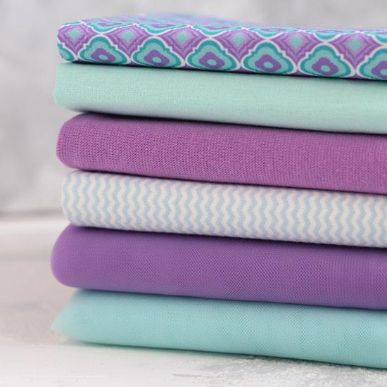 Набор тканей для пошива - Лаванда и мята