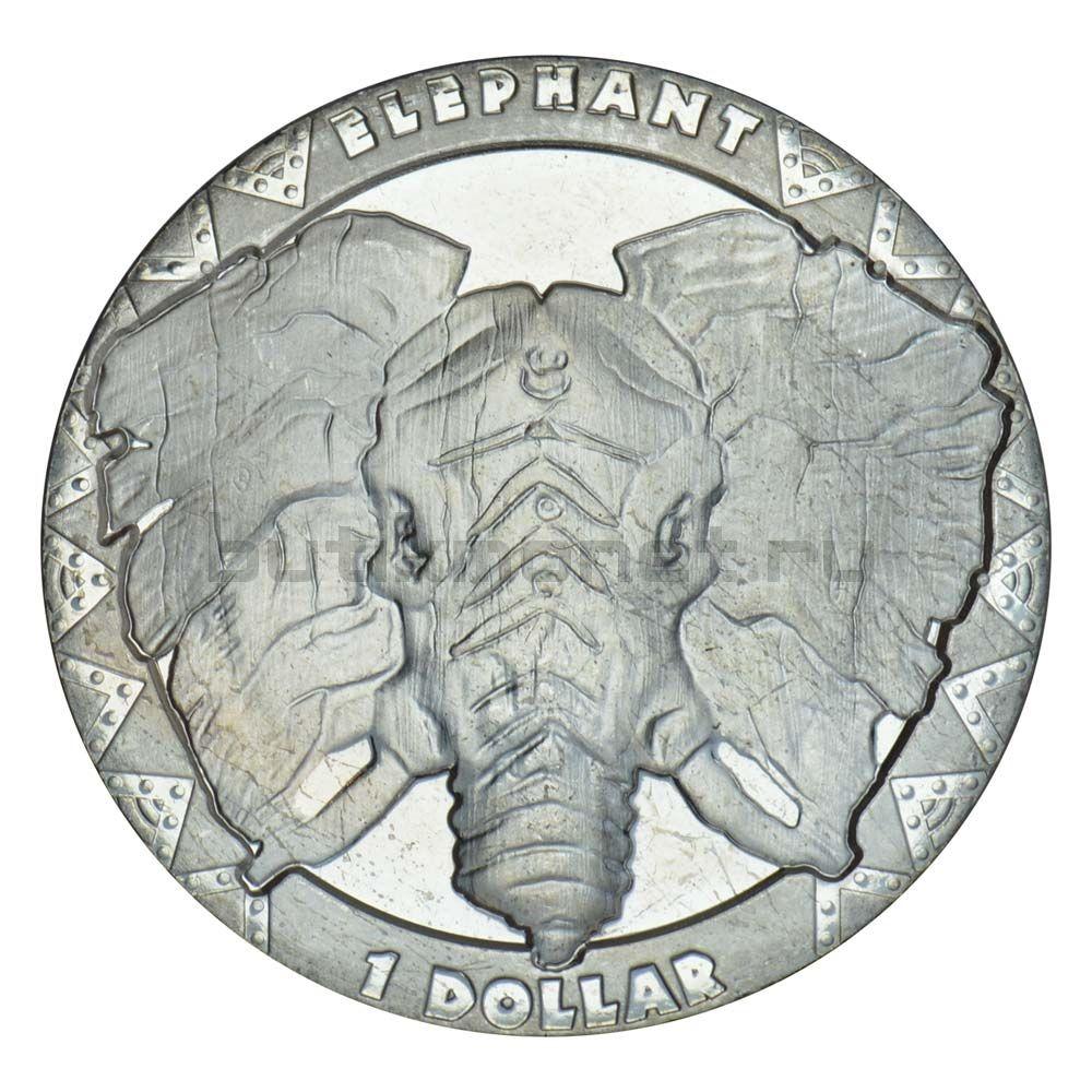 1 доллар 2019 Сьерра-Леоне Слон (Большая пятерка)